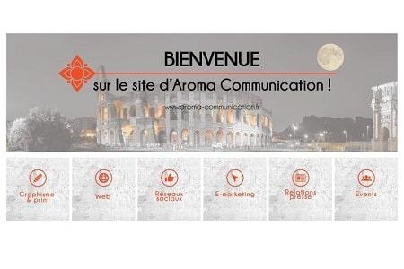 Bienvenue sur le site d'AROMA Communication