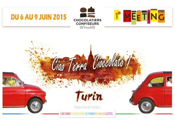 Visuel meeting des chocolatiers à Turin